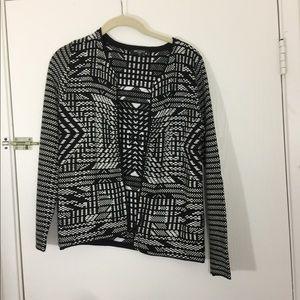 ❣️Miss Kelly❣️ Black and white blazer